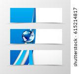 set of header banner digital... | Shutterstock .eps vector #615214817