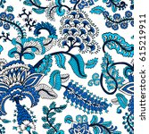 seamless pattern with fantasy... | Shutterstock .eps vector #615219911