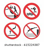 no jump sign vector design for... | Shutterstock .eps vector #615224387