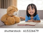 smiling asian chinese little... | Shutterstock . vector #615226679