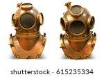 copper old vintage deeps sea...   Shutterstock . vector #615235334