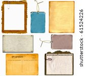 real cardboard and paper items  ...   Shutterstock . vector #61524226