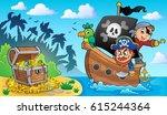 pirate boat theme 2   eps10... | Shutterstock .eps vector #615244364