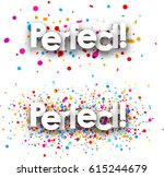 perfect paper banners set with... | Shutterstock .eps vector #615244679