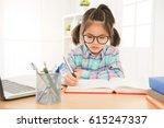 pretty cute girl kid wear... | Shutterstock . vector #615247337