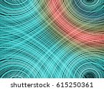 abstract fantasy fractal lines... | Shutterstock . vector #615250361