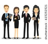 business people  group of... | Shutterstock .eps vector #615252521