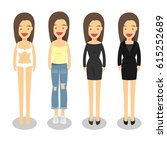 woman in different style...   Shutterstock .eps vector #615252689