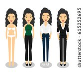woman in different style... | Shutterstock .eps vector #615252695