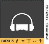 virtual reality icon flat....