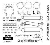 big set of decorative elements  ... | Shutterstock .eps vector #615254201