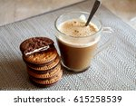 Cappuccino Coffee With Biscuit...
