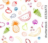 fruits and berries sketch ... | Shutterstock .eps vector #61526473