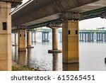 smog on the han river bridge... | Shutterstock . vector #615265451