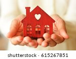 warm and cozy miniature house... | Shutterstock . vector #615267851