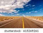 open highway in california  usa. | Shutterstock . vector #615269261