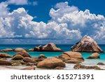 beautiful beach at seychelles ...   Shutterstock . vector #615271391
