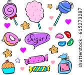 collection stock candy various... | Shutterstock .eps vector #615273287