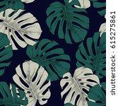 detailed exotic monstera leaf... | Shutterstock . vector #615275861