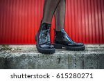 Details Of Woman Shoes And Leg...