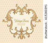 vintage richly decorated frame...   Shutterstock .eps vector #615283391
