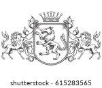 vector image of a heraldic... | Shutterstock .eps vector #615283565