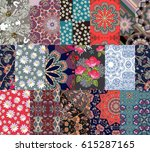 endless patchwork pattern with... | Shutterstock .eps vector #615287165