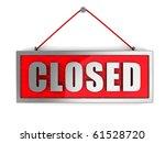3d Illustration Of 'closed'...