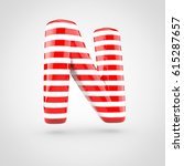 striped red and white glossy... | Shutterstock . vector #615287657