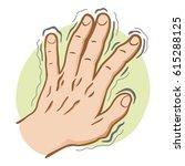 close body part  hand shaking... | Shutterstock .eps vector #615288125