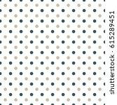 seamless polka dot pattern... | Shutterstock .eps vector #615289451