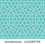 islamic pattern. seamless... | Shutterstock .eps vector #615289739