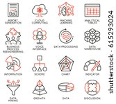 vector set of 16 icons related... | Shutterstock .eps vector #615293024