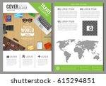 travel brochure design.... | Shutterstock .eps vector #615294851