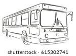 sketch of bus.  | Shutterstock . vector #615302741