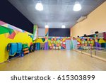 fitness or dance hall with... | Shutterstock . vector #615303899