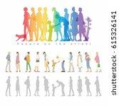 people on the street. vector... | Shutterstock .eps vector #615326141