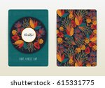 cover design with floral... | Shutterstock .eps vector #615331775