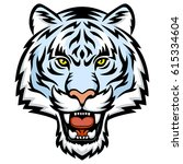 a white tiger head logo. this... | Shutterstock . vector #615334604