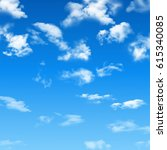 blue sky with clouds. | Shutterstock .eps vector #615340085