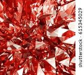 abstract 3d render   macro... | Shutterstock . vector #615345029