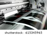 large printer format inkjet... | Shutterstock . vector #615345965