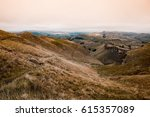 hills with autumn feel in... | Shutterstock . vector #615357089
