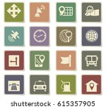 navigation vector icons for... | Shutterstock .eps vector #615357905