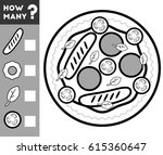 counting game for preschool...   Shutterstock .eps vector #615360647