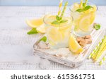 cold refreshing summer drink... | Shutterstock . vector #615361751
