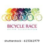 cycling race colorful... | Shutterstock .eps vector #615361979