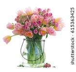 Bouquet Of Fresh Pink And...