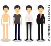 handsome man in different style ... | Shutterstock .eps vector #615364151