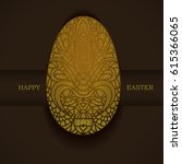 banner with golden ornamental... | Shutterstock .eps vector #615366065